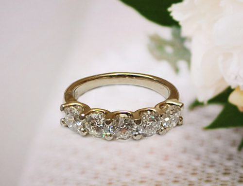 Five stone Diamond Wedding Anniversary Ring