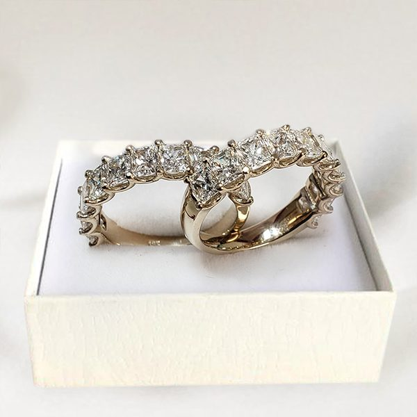 Baguette Diamond Wedding Anniversary Ring