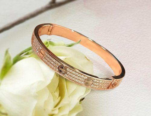 Three-row Diamond Bangle Bracelet