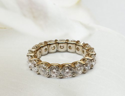 U-prong Diamond Full Eternity Ring