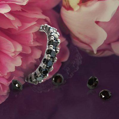 Black Diamond Eternity Wedding Ring