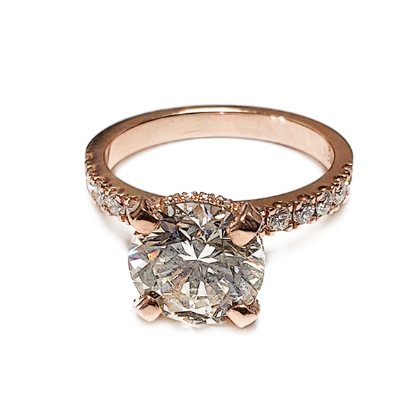 Solitaire Engagement Embellished Prongs
