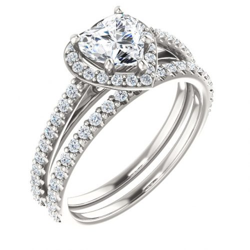 Er12284w Heart Diamond Halo