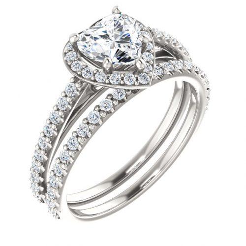 Er12284w Heart Diamond Halo