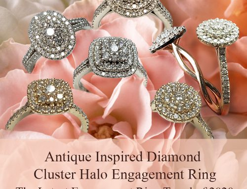 The Latest Engagement Ring Trend of 2020: Diamond Cluster Halo Engagement Ring