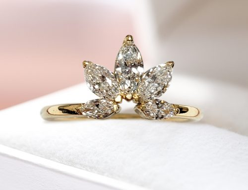Marquise cut Diamond Floral Fashion Ring