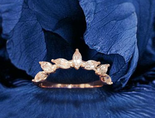 Marquise Shaped Morganite Floral Fashion Ring