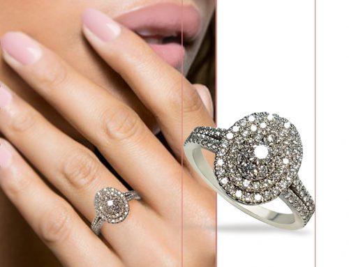 Oval Halo Diamond Cluster Split Shank Engagement Ring