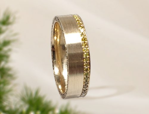 Men's Yellow Diamond Wedding Band