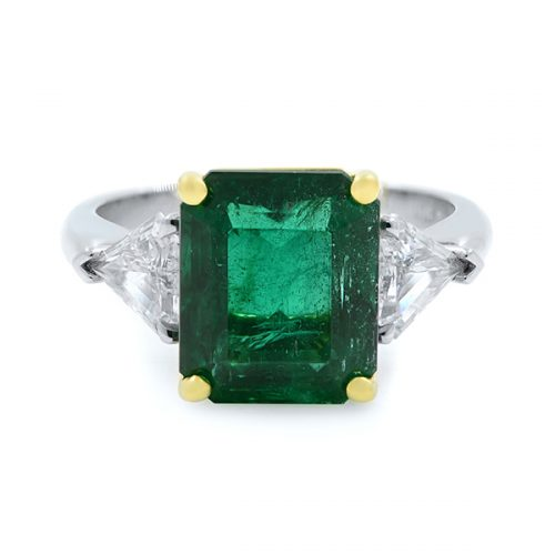 3stone Emerald Engagement