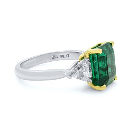 3stone Emerald Engagement2