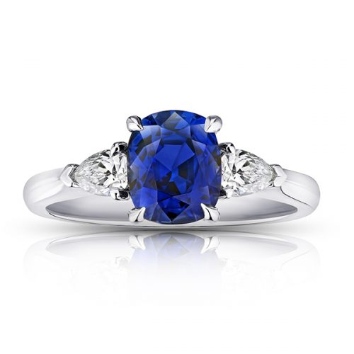 Cushion Blue Sapphire Pear Diamonds